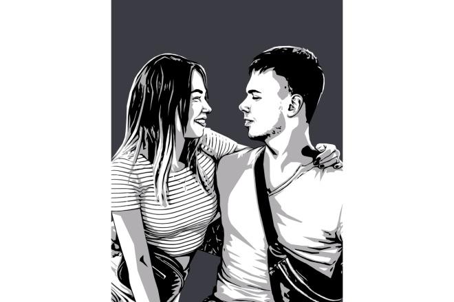 Качественный поп-арт портрет по вашей фотографии 13 - kwork.ru