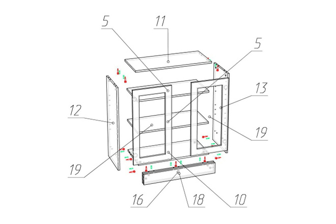 Проект корпусной мебели, кухни. Визуализация мебели 63 - kwork.ru