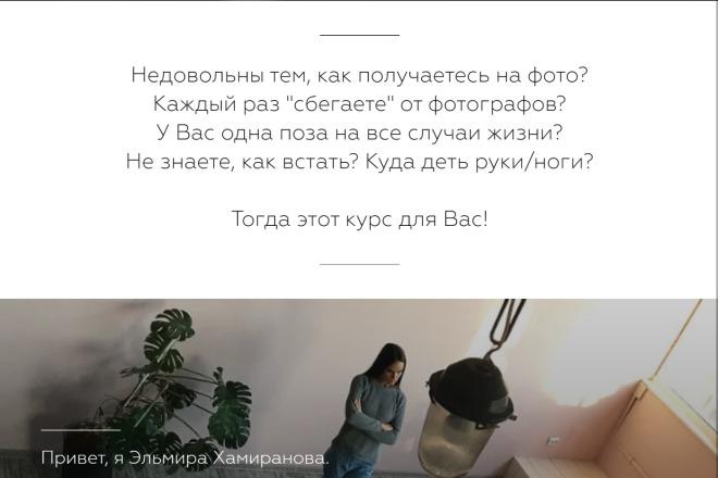 Качественная копия Landing Page на Tilda 7 - kwork.ru