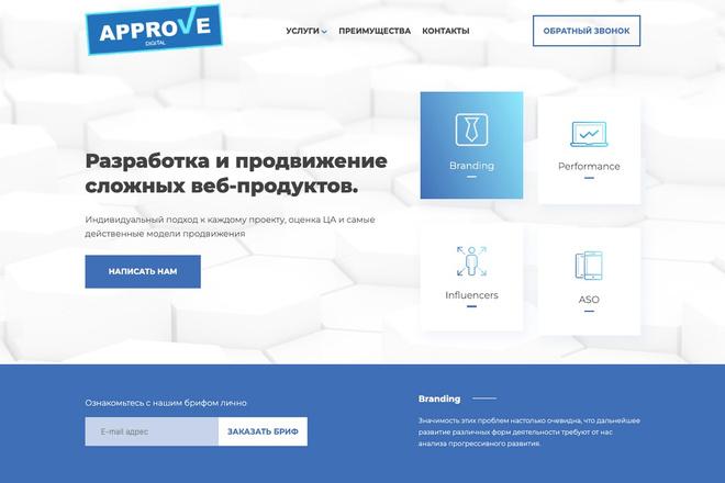 Сверстаю сайт по любому макету 175 - kwork.ru