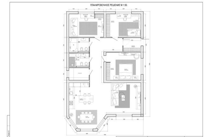 Планировочное решение вашего дома, квартиры, или офиса 16 - kwork.ru