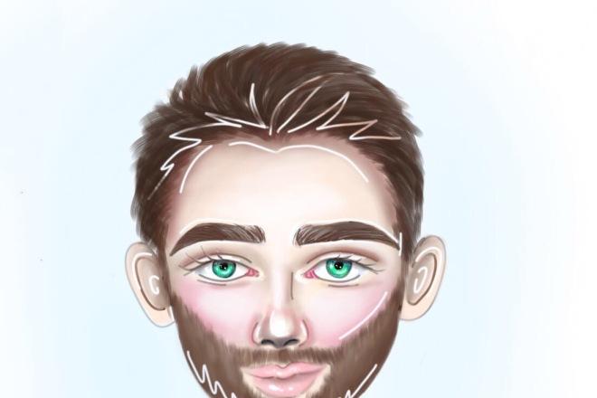 Рисование портретов в мультяшном стиле 2 - kwork.ru