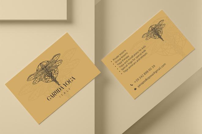 Дизайн визитки с исходниками 66 - kwork.ru