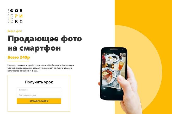 Дизайн продающего лендинга для компании 5 - kwork.ru