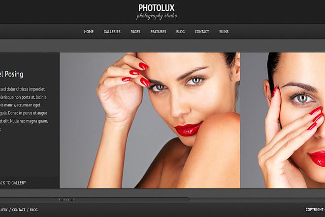 Тема Photolux для WordPress на русском с обновлениями и плагинами 2 - kwork.ru