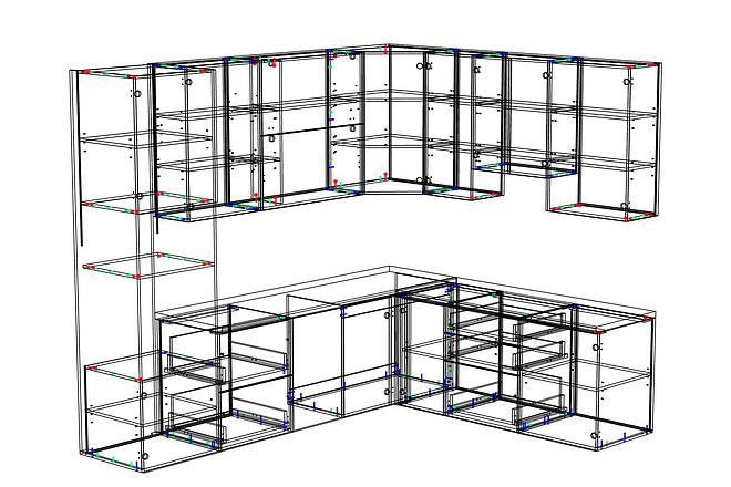 Конструкторская документация для изготовления мебели 91 - kwork.ru