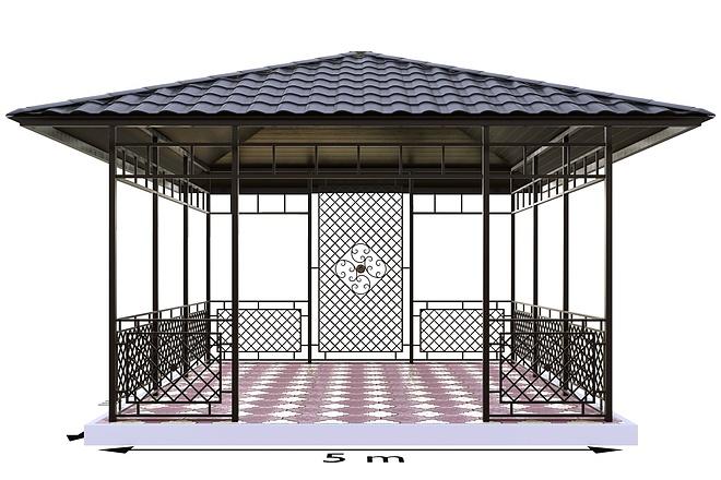 Сделаю 3d модель кованных лестниц, оград, перил, решеток, навесов 5 - kwork.ru
