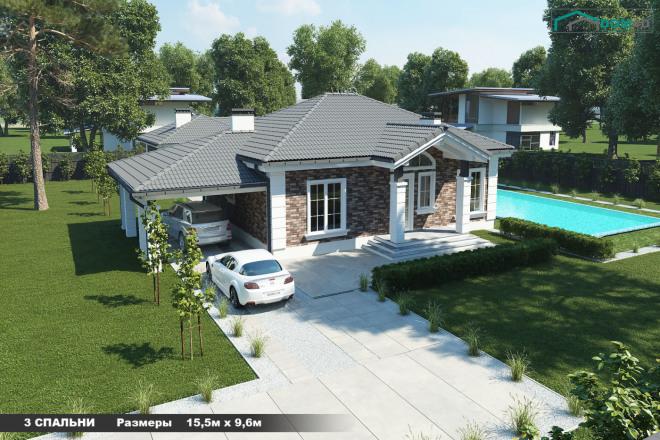 Качественная 3D визуализация фасадов домов 1 - kwork.ru