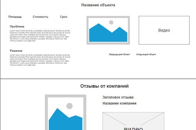 Прототип лендинга для продажи товаров и услуг 44 - kwork.ru