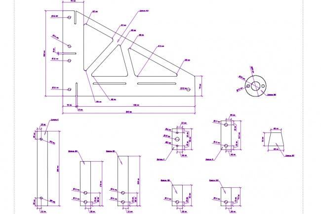 Отрисовка в AutoCAD и Corel Draw 6 - kwork.ru