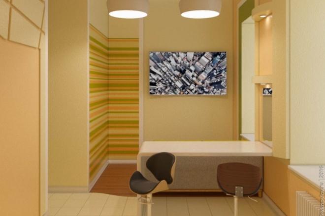 Выполню 3D визуализацию интерьера квартиры, дома, офисного помещения 12 - kwork.ru
