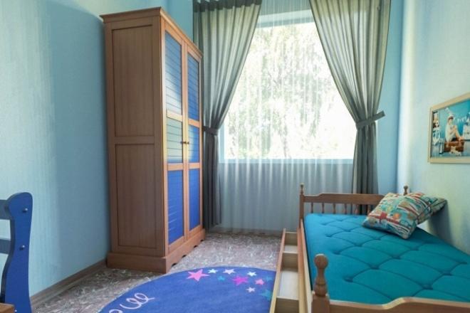 Выполню 3D визуализацию интерьера квартиры, дома, офисного помещения 1 - kwork.ru