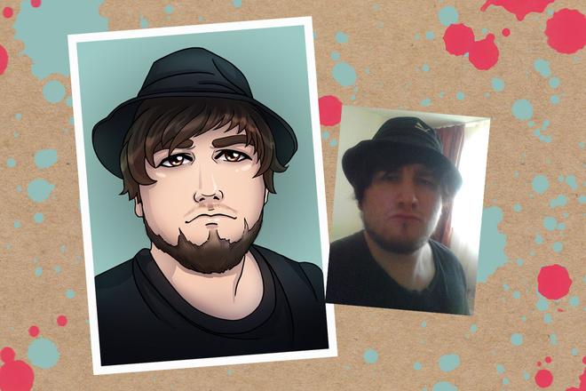 Портрет в стиле аниме или манги 2 - kwork.ru