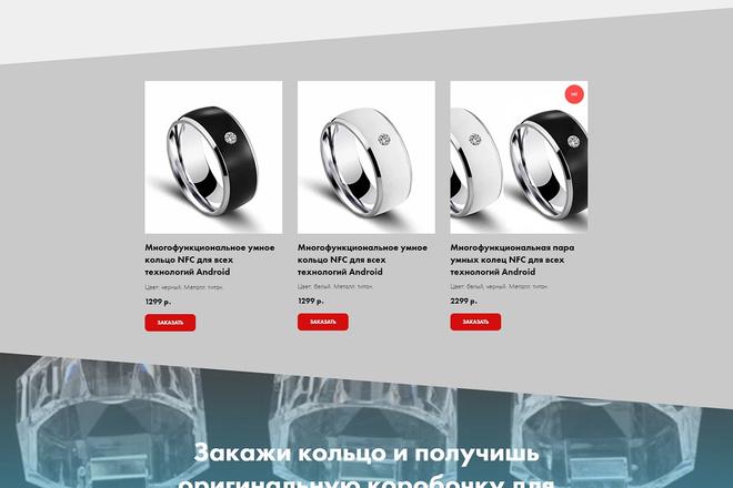 Создание современного лендинга на конструкторе Тильда 63 - kwork.ru