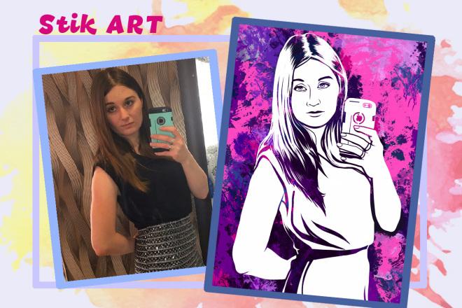 Нарисую портрет в стиле Pop Art,Comics Art, Stik Art 36 - kwork.ru