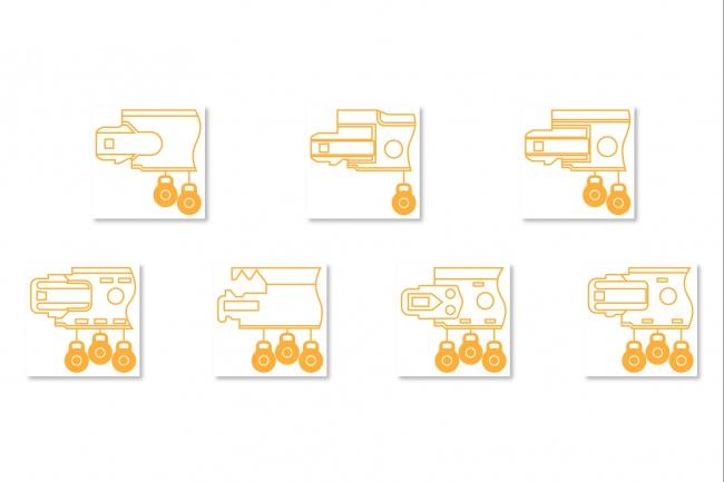 Иконки в уникальном стиле, для сайта и приложения Вашего Бренда 6 - kwork.ru