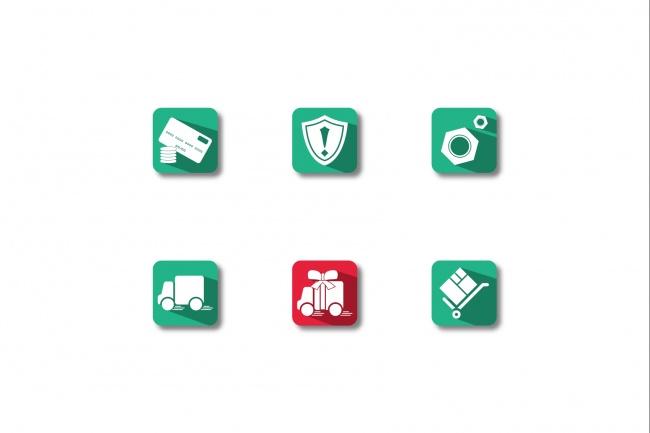 Иконки в уникальном стиле, для сайта и приложения Вашего Бренда 4 - kwork.ru