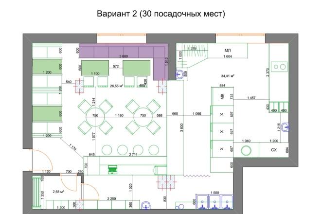 Планировочные решения. Планировка с мебелью и перепланировка 63 - kwork.ru
