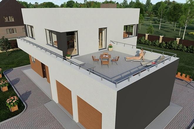 Фотореалистичная 3D визуализация экстерьера Вашего дома 144 - kwork.ru