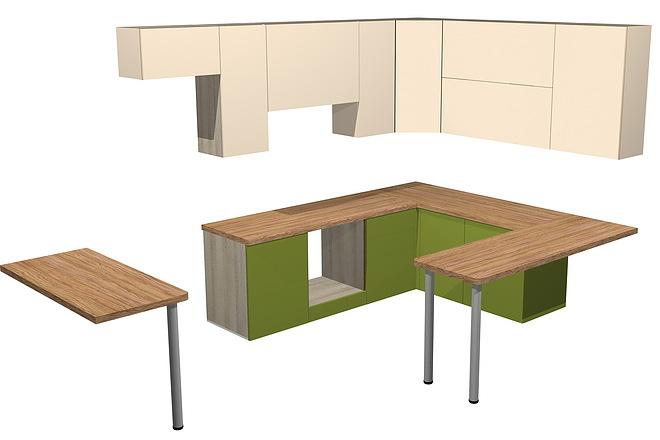 Проект корпусной мебели, кухни. Визуализация мебели 46 - kwork.ru