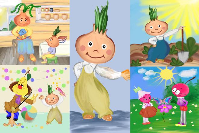 Детские Иллюстрации 2 - kwork.ru