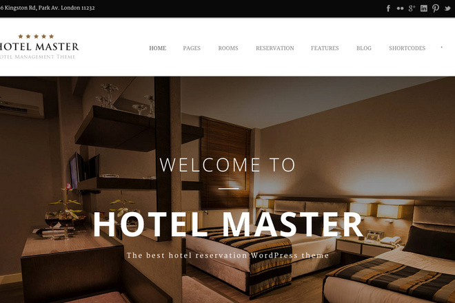 Тема Hotel Booking для WordPress на русском с обновлениями и плагинами 7 - kwork.ru