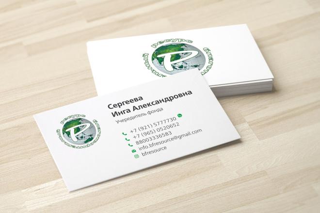 Дизайн визитки с исходниками 50 - kwork.ru