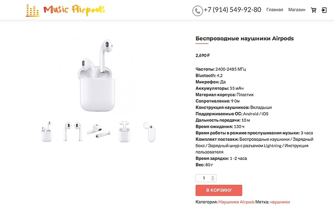 Создание одностраничника на Wordpress 65 - kwork.ru