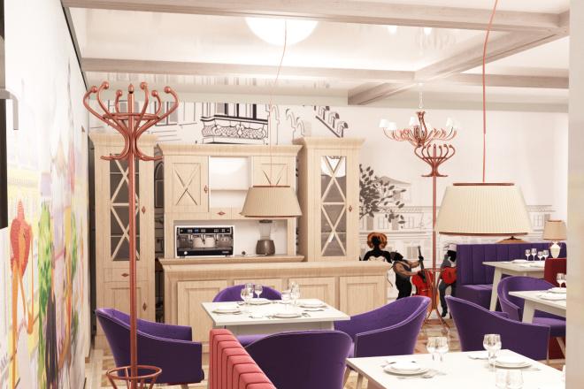 Интерьеры ресторанов, кафе 4 - kwork.ru