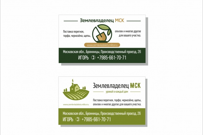 Дизайн визитки 104 - kwork.ru