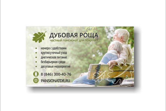 Дизайн визитки 103 - kwork.ru