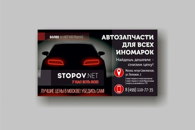 Дизайн визитки 96 - kwork.ru