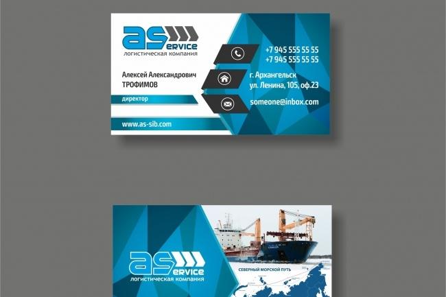 Дизайн визитки 94 - kwork.ru