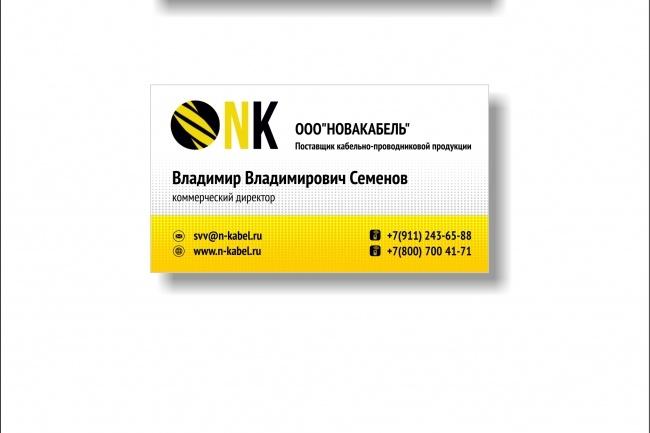 Дизайн визитки 84 - kwork.ru