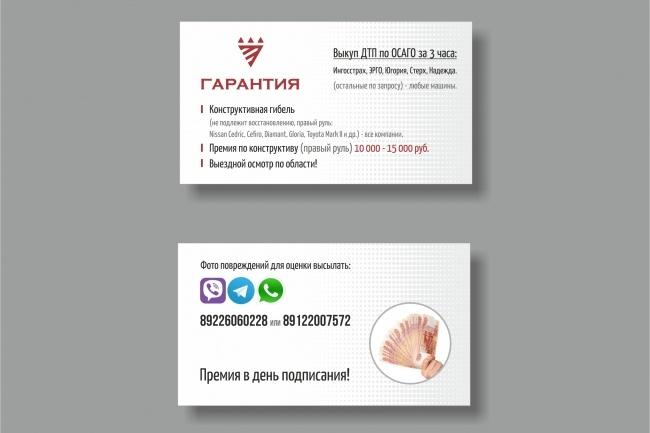Дизайн визитки 81 - kwork.ru