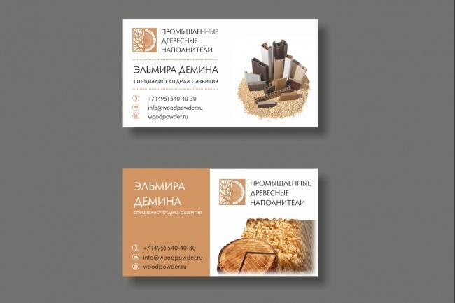 Дизайн визитки 80 - kwork.ru