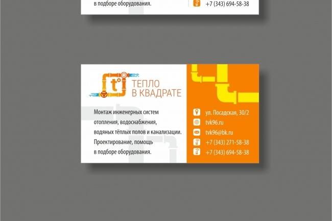 Дизайн визитки 69 - kwork.ru