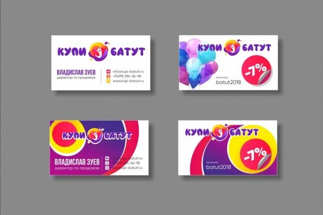 Дизайн визитки 61 - kwork.ru