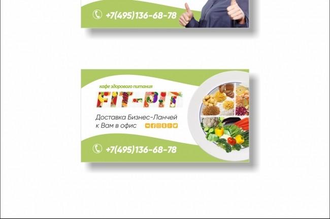 Дизайн визитки 57 - kwork.ru