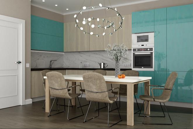 Дизайн-проект кухни. 3 варианта 28 - kwork.ru