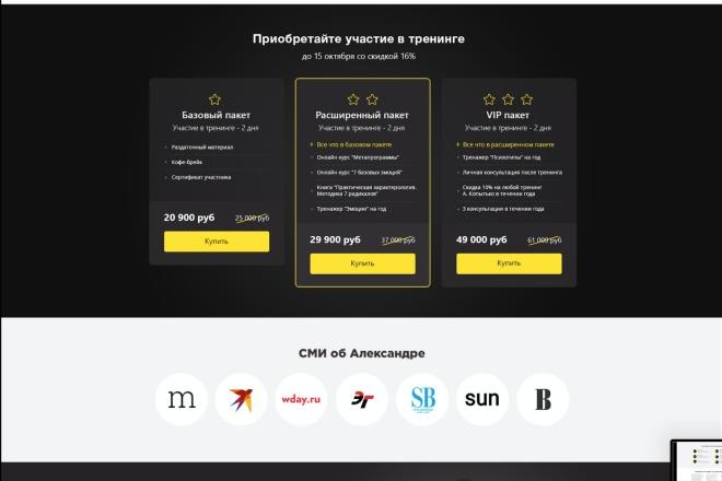 Вёрстка сайтов по доступной цене 73 - kwork.ru
