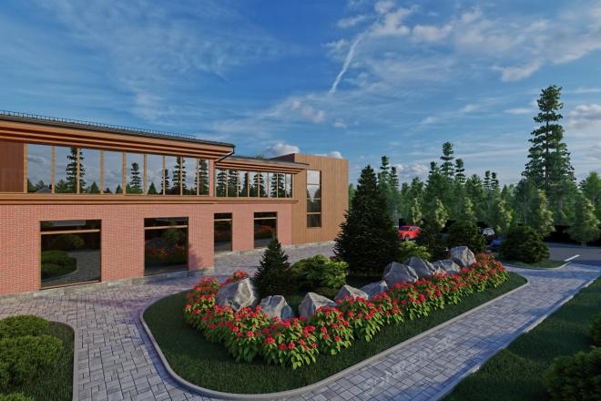 Фотореалистичная 3D визуализация экстерьера Вашего дома 63 - kwork.ru