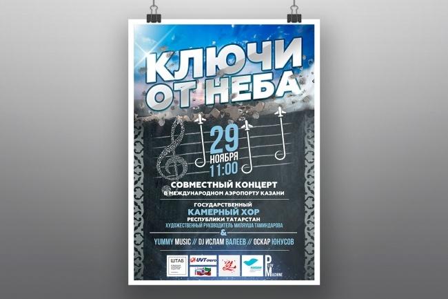 Разработка афиш, постеров, плакатов 4 - kwork.ru