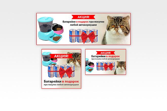 Создам 1-3 статичных баннера + исходники в подарок 45 - kwork.ru