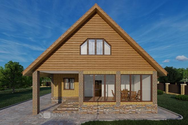 Фотореалистичная 3D визуализация экстерьера Вашего дома 51 - kwork.ru