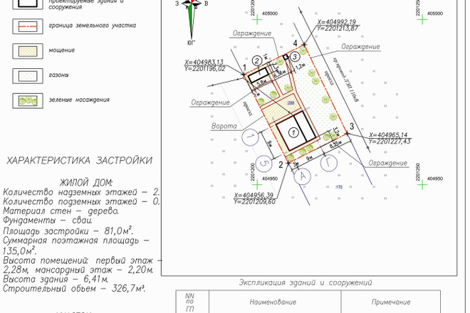 Схема планировочной организации земельного участка - спозу 10 - kwork.ru