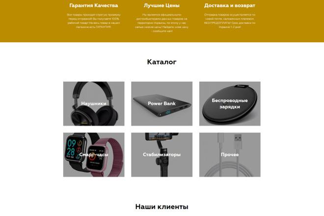 Создание современного лендинга на конструкторе Тильда 29 - kwork.ru