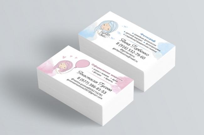 Качественно дизайн визитки+исходник 24 - kwork.ru