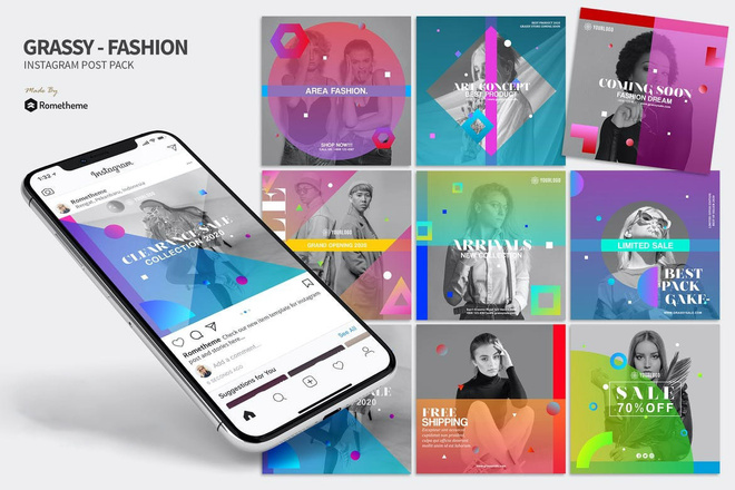 30000 шаблонов для Инстаграм, 5000 рекламных баннеров + много Бонусов 1 - kwork.ru