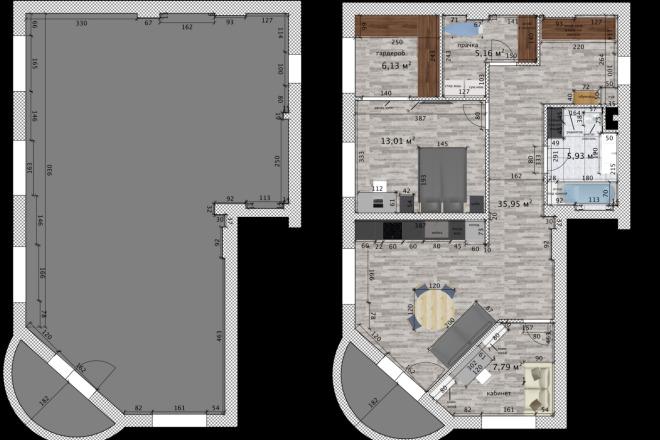 Интересные планировки квартир 3 - kwork.ru
